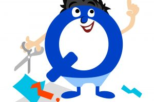 Board game character of letter Q with a twist creating board games_ normal
